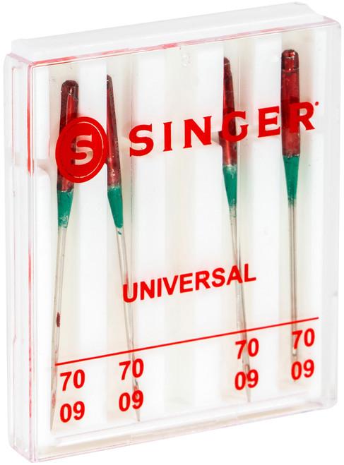 Singer Universal Regular Point Machine Needles-Size 9/70 4/Pkg -4877
