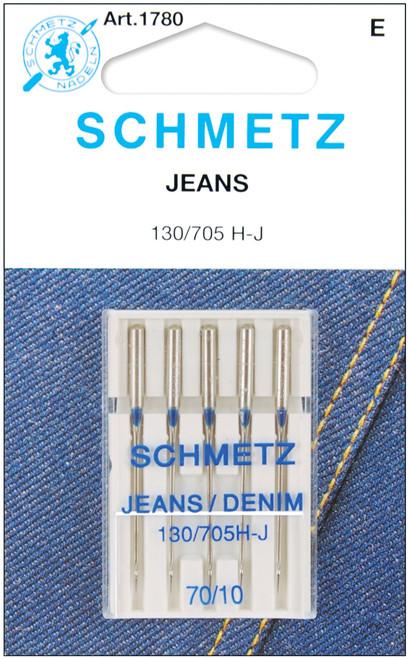 Schmetz Jean & Denim Machine Needles-Size 10/70 5/Pkg -1780 - 036346317809