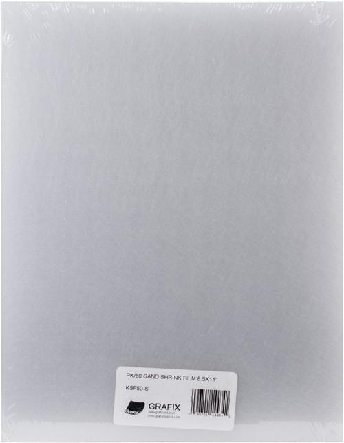 "Grafix Shrink Film 8.5""X11"" 50/Pkg-Sanded -KSF50-S - 096701144341"