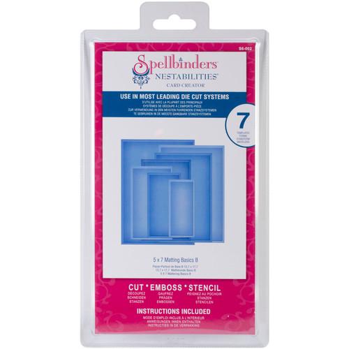 "Spellbinders Nestabilities 5""X7"" Card Creator Dies-Matting Basics B -S6002 - 879216019720"