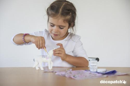 """Paper-Mache Figurine 4.5""""-Trotting Horse -AP-108"""