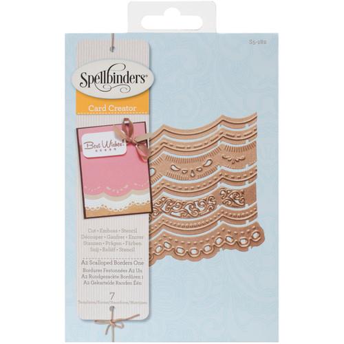 Spellbinders Borderabilities Card Creator Dies-A2 Scalloped Borders 1 -S5182 - 879216018907