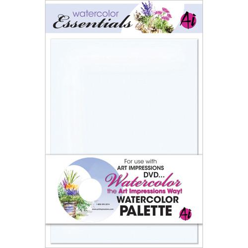 """Art Impressions Watercolor Palette 5.75""""X7.75""""-WCPLT - 608729386971"""