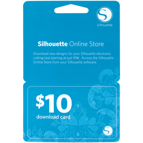 Silhouette $10 Download Card-10DNLD