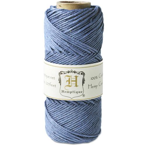 Hemptique Hemp Cord Spool 20lb 205'-Dusty Blue -HS20-DB - 091037333766
