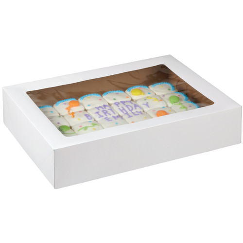 "Corrugated Cake Boxes-2/Pkg 19""X14""X4"" -415-0966 - 070896109668"