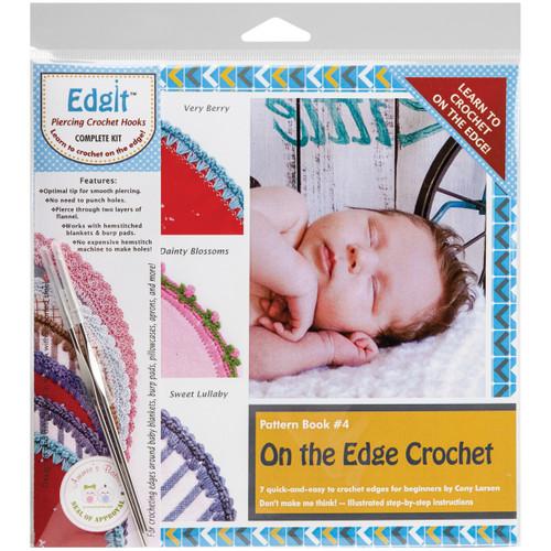 Ammees Babies Edgit Piercing Crochet Hook & Book Set-On The Edge Crochet -EDGIT-E115 - 800922617115