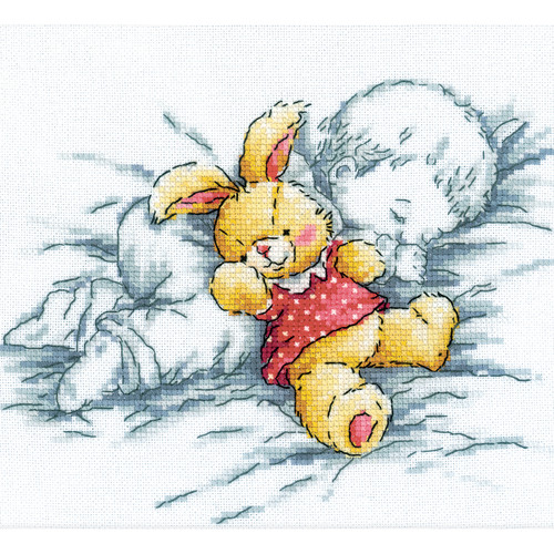 "RTO Counted Cross Stitch Kit 8""X7.25""-Baby W/Rabbit (14 Count) -M157"