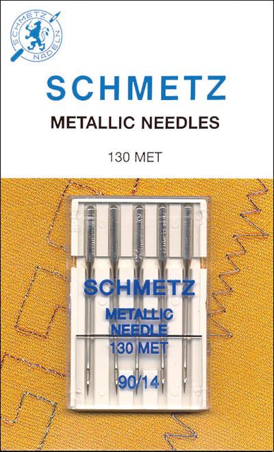 Schmetz Metallic Machine Needle-Size 14/90 5/Pkg -1752 - 036346317526