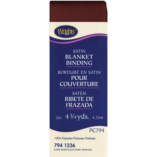 "Wrights Single Fold Satin Blanket Binding 2""X4.75yd-Bark -117-794-1236 - 070659724602"