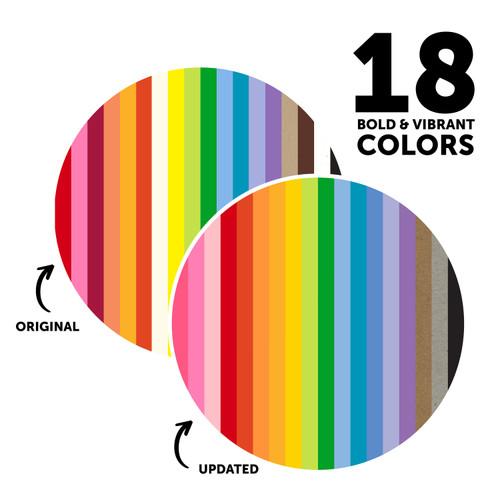 "Neenah Astrodesigns Cardstock Pack 8.5""X11"" 72/Pkg-18 Bold & Vivid Colors -4640703"