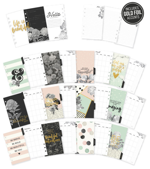 Carpe Diem Beautiful Double-Sided Personal Planner Inserts-Monthly, Undated -BEA7991