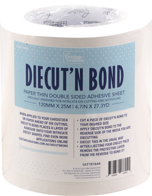 """Ultimate Crafts Diecut'N Bond Double-Sided Tape 4.72""""X82'-Clear -157644 - 9332839037041"""