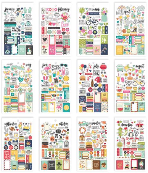 Planner Essentials Mini Stickers-Seasons, 578 Stickers -PE7983