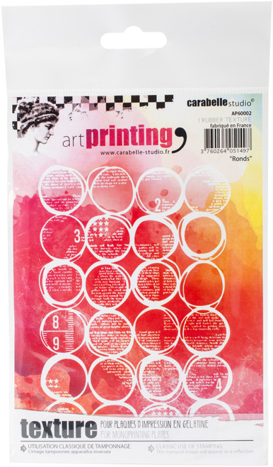 Carabelle Studio Art Printing A6 Rubber Texture Plate-Rounds -AP60002 - 3760264051497