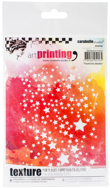 Carabelle Studio Art Printing A6 Rubber Texture Plate-Among The Stars -AP60006 - 3760264051534