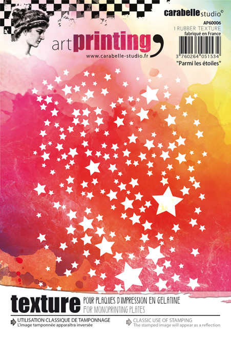 Carabelle Studio Art Printing A6 Rubber Texture Plate-Among The Stars -AP60006