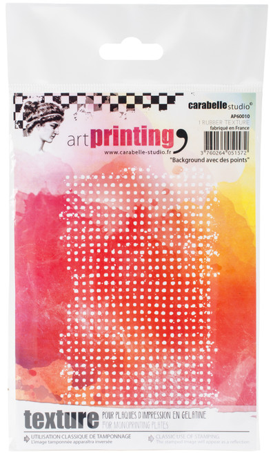 Carabelle Studio Art Printing A6 Rubber Texture Plate-Background With Dots -AP60010 - 3760264051572