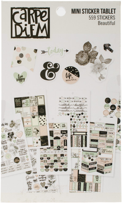 Carpe Diem Beautiful Mini Stickers-BEA7945 - 816502024839