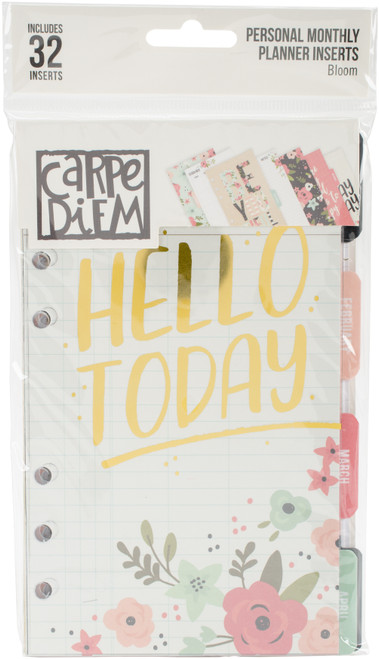 Carpe Diem Bloom Double-Sided Personal Planner Inserts-Monthly, Undated -BLM7990 - 816502024761