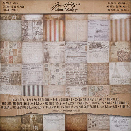 """Idea-Ology Paper Stash Double-Sided Paper Pad 12""""X12"""" 36/Pkg-French Industrial -TH93052 - 040861930528"""