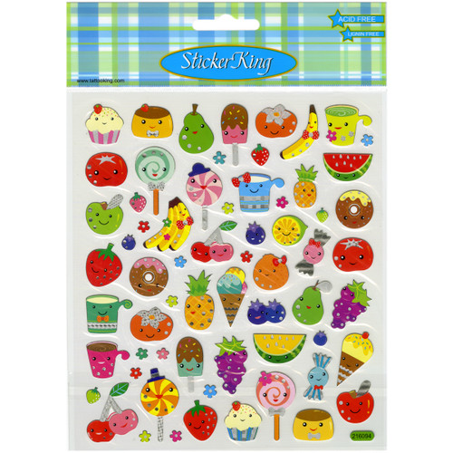 Sticker King Stickers-Fruit Faces -SK129MC-4240 - 679924424010