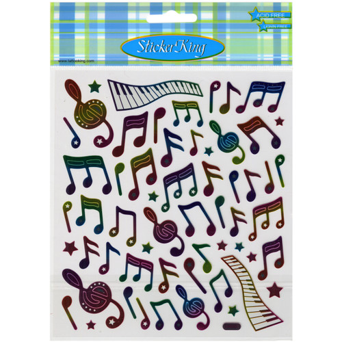Sticker King Stickers-Music Notes -SK129MC-4262 - 679924426212