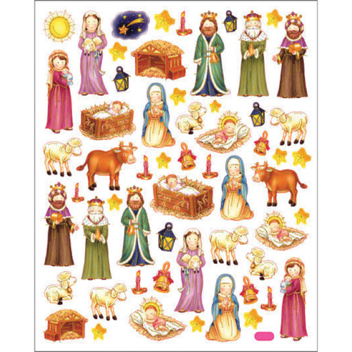 Sticker King Stickers-Nativity Scene -SK129MC-4184 - 679924418415
