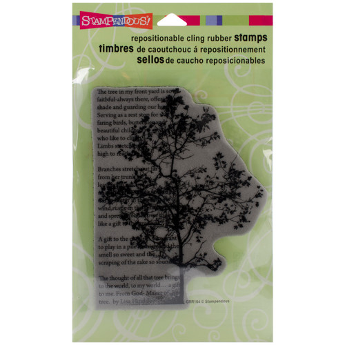 Stampendous Cling Stamp -Tree Poem -CRR164 - 744019198203