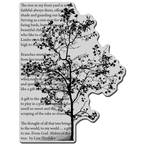 Stampendous Cling Stamp -Tree Poem -CRR164