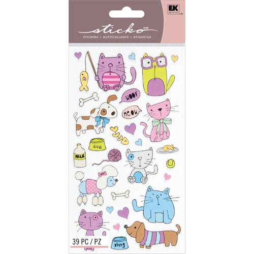 Sticko Stickers-Cats & Dogs -E5200037 - 015586959550