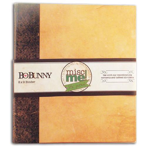 """BoBunny Misc Me 3-Ring Binder 8""""X9""""-Kraft -12424778 - 665573047786"""