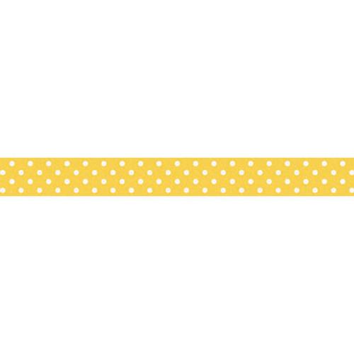 Doodlebug Washi Tape 15mmX12yd-Bumblebee Swiss Dot -DWASHI-3652