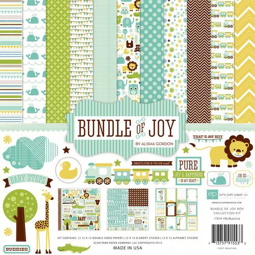 "Echo Park Collection Kit 12""X12""-Bundle Of Joy Boy -BJB46016 - 713757915533"