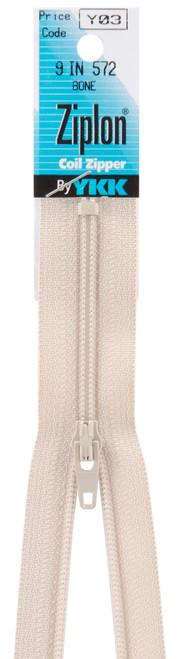 """YKK Ziplon Coil Zipper 9""""-Bone -109-572 - 662330510545"""