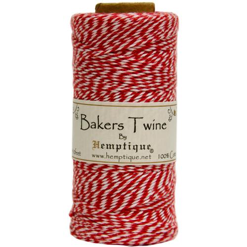 Hemptique Cotton Baker's Twine Spool 2-Ply 410'-Red -BTS2-9314 - 091037093141