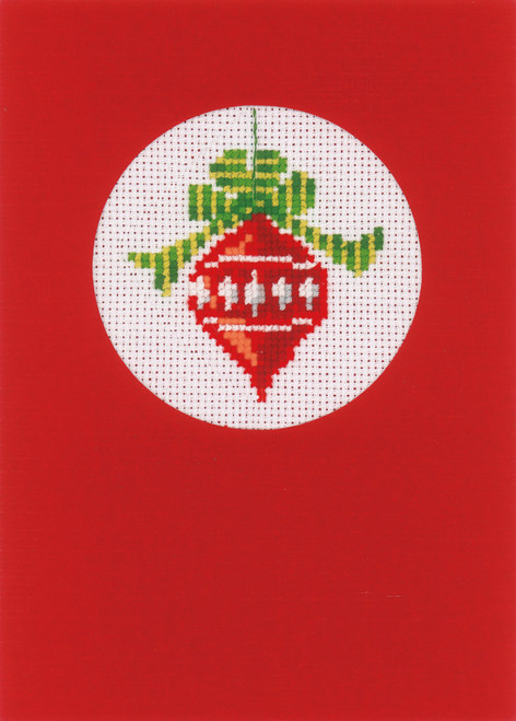 """Vervaco Counted Cross Stitch Greeting Card Kit 4.2""""X6"""" 3/Pk-Christmas on Aida (18 Count) -V0145622"""