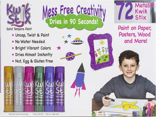 Kwik Stix Tempera Paint Classpack 72/Pkg-Metalix Colors, 12 Of Each Color -TPG629 - 634901006290