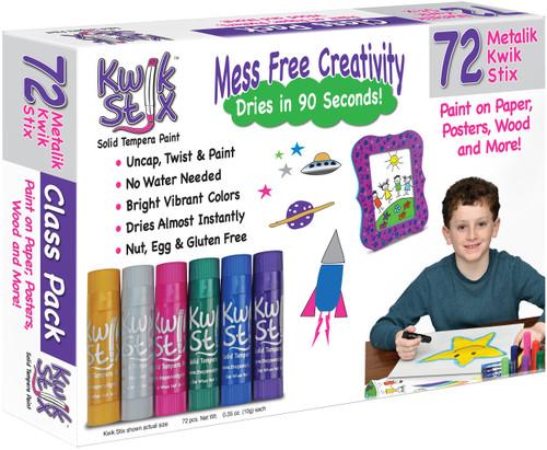 Kwik Stix Tempera Paint Classpack 72/Pkg-Metalix Colors, 12 Of Each Color -TPG629