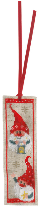 """Vervaco Counted Cross Stitch Bookmark Kit 2.4""""X8"""" 2/Pkg-Christmas Gnomes on Aida (14 Count) -V0185073 - 5400946010982"""