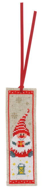 """Vervaco Counted Cross Stitch Bookmark Kit 2.4""""X8"""" 2/Pkg-Christmas Gnomes on Aida (14 Count) -V0185073"""