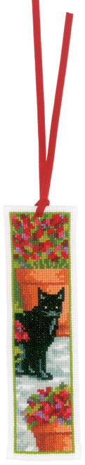 """Vervaco Counted Cross Stitch Bookmark Kit 2.4""""X8"""" 2/Pkg-Cats on Aida (14 Count) -V0183610 - 5400946001119"""