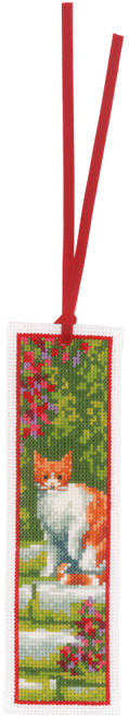 """Vervaco Counted Cross Stitch Bookmark Kit 2.4""""X8"""" 2/Pkg-Cats on Aida (14 Count) -V0183610"""