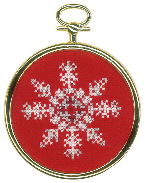 """Vervaco Counted Cross Stitch Miniatures Kit 3.2""""X4.8"""" 3/Pkg-Ice Star (18 Count) -V0172218 - 5400946010951"""