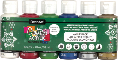 2 Pack Crafter's Acrylic Value Pack 6/Pkg-Christmas -DASK430 - 766218110909