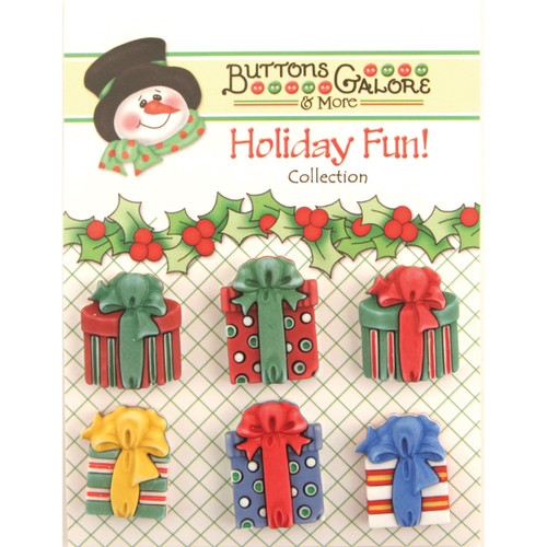 Buttons Galore Holiday Fun Buttons-Christmas Presents -CM-107 - 840934011761