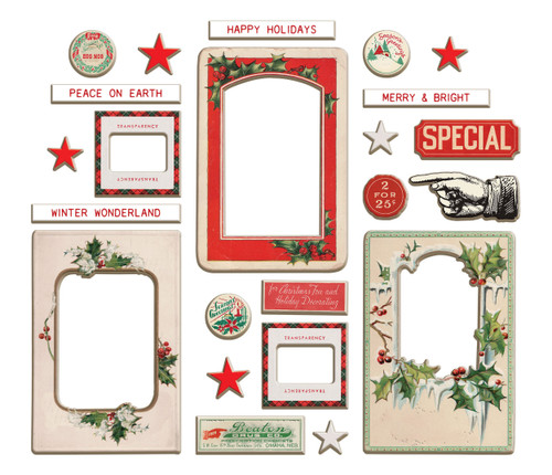 2 Pack Idea-Ology Chipboard Baseboards 23/Pkg-Christmas -TH94193 - 040861941937