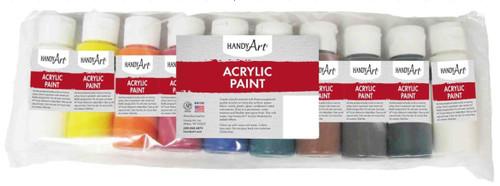 Handy Art Acrylic Paint 2oz 10/Pkg-Assorted -881015 - 075176101295