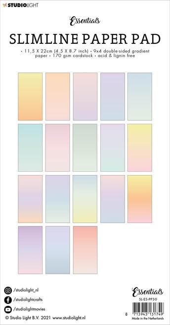 Studio Light Double-Sided Slimline Paper Pad 36/Pkg-NR. 30, Gradient Pastel -SLESPP30 - 8713943131749