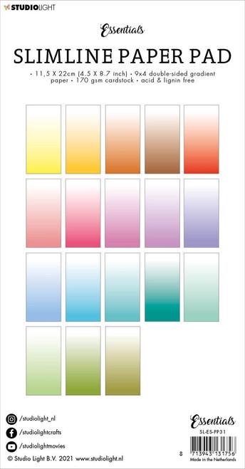 Studio Light Double-Sided Slimline Paper Pad 36/Pkg-NR. 31, Gradient White Fade -SLESPP31 - 8713943131756